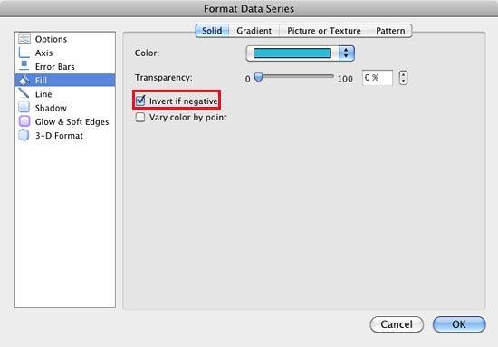 Format Data Series dialog box