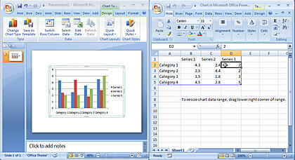 Chart and Excel with default values