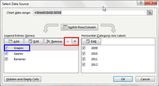 Select Data Source dialog box
