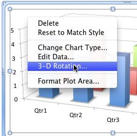 3-D Rotation option selected