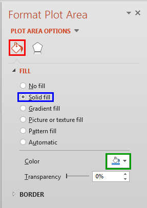 Solid fill option selected