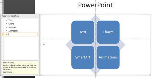 Basic Matrix SmartArt graphic