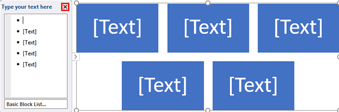The SmartArt graphic's Text Pane