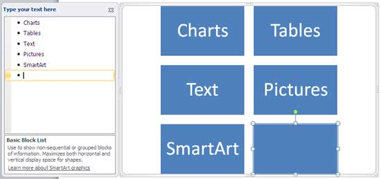 New bullet in Text Pane creates a new shape in SmartArt graphic