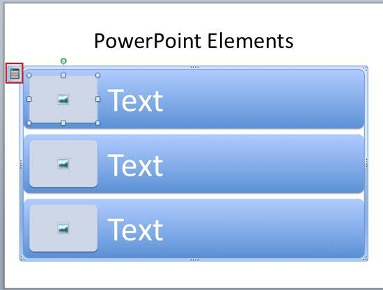 Text Pane icon within the SmartArt graphic