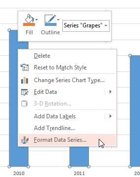 Format Data Series option