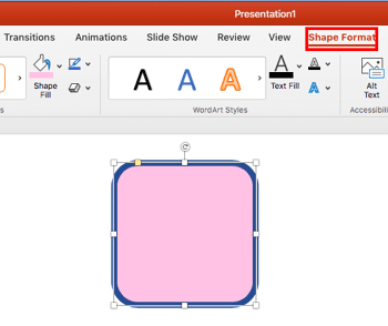 No Line for Shapes in PowerPoint 2016 for Mac
