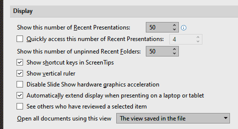 Explore Display options in PowerPoint 365