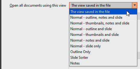 Open all documents using this view in PowerPoint 365