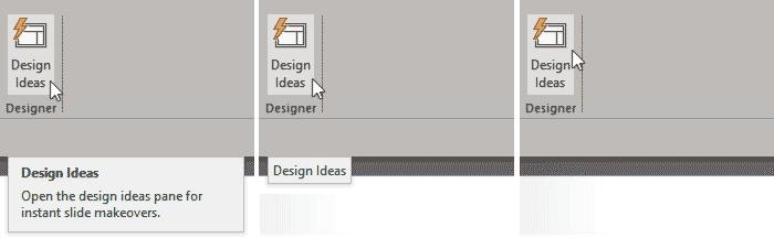 Three options for ScreenTips
