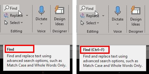 Show shortcut keys in ScreenTips