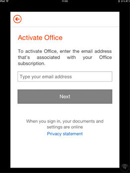 Sign into your Office 365 account