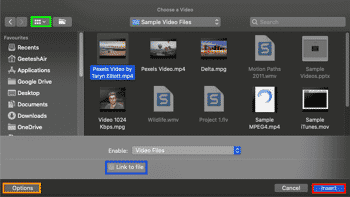 Insert Video Clips in PowerPoint 365 for Mac