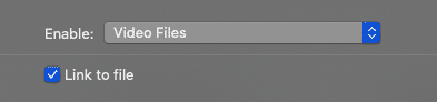 Link to File option