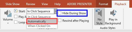 Automatically option selected within Start drop-down list