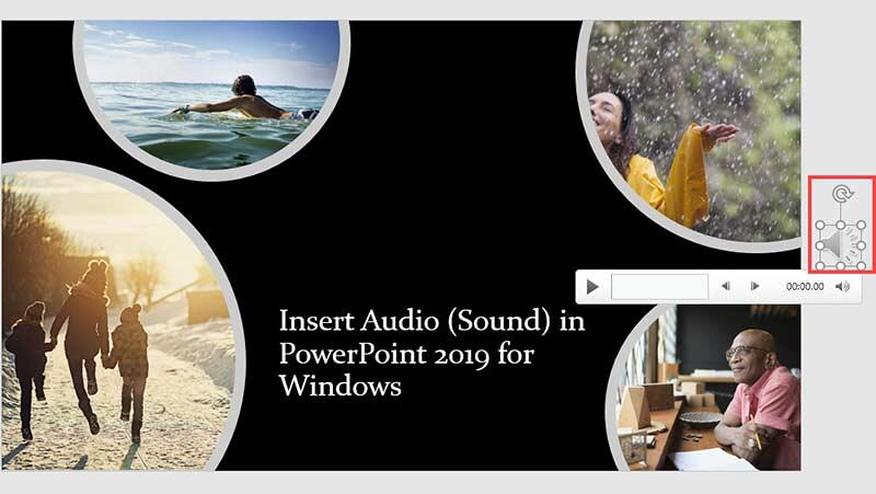 Drag the audio icon off the Slide Area