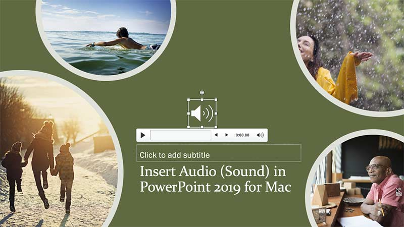 Audio icon placed on slide