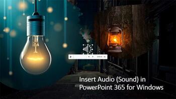 Insert Audio (Sound) in PowerPoint 365 for Windows