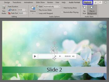 Sound Across Specific Slides in PowerPoint 365 for Windows