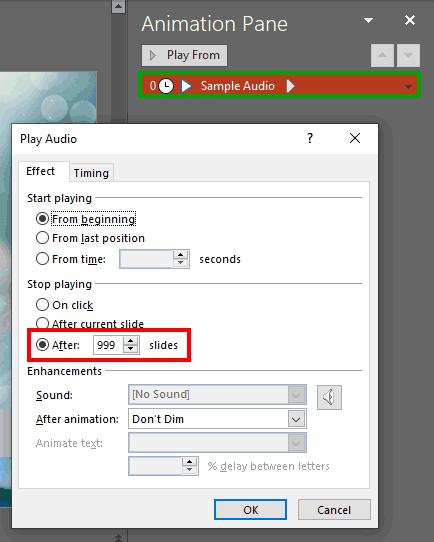 Animation Task Pane