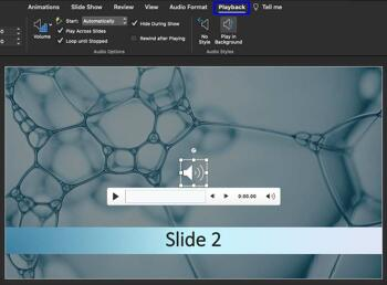 Sound Across Specific Slides in PowerPoint365 for Mac