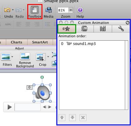 Custom Animation tab selected