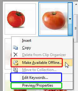 Make Available Offline option