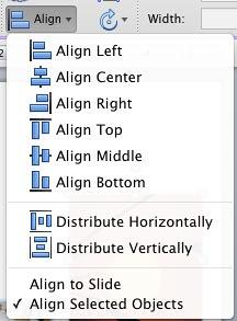 Align drop-down gallery