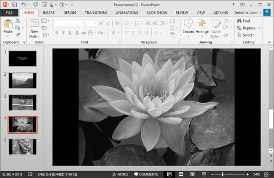 Pictures converted to black and white