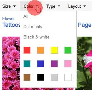 Bing Images Search by Color Filters