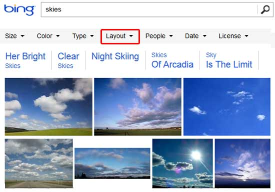 Bing Images Search results