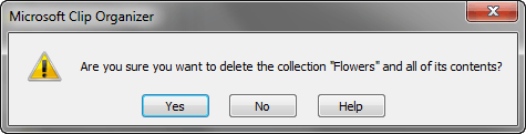 Delete a Collection folder?