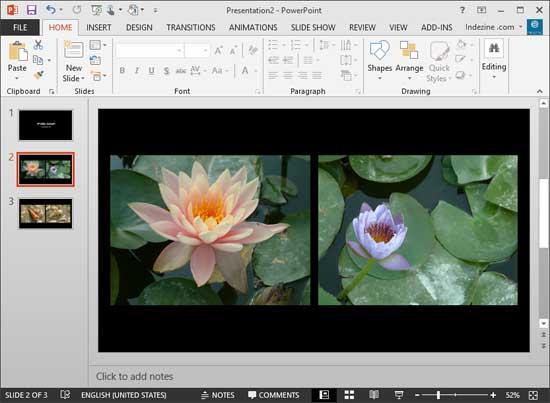 Photo Album in PowerPoint 2013