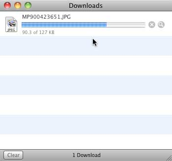 Downloading the selected clip media