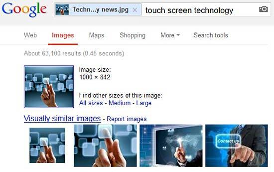 Results from Google matching the image