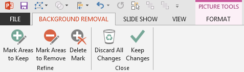 Refine options within the Background Removal tab