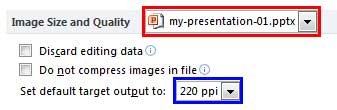 Image Size and Quality section