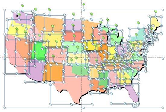 Ungrouped USA map