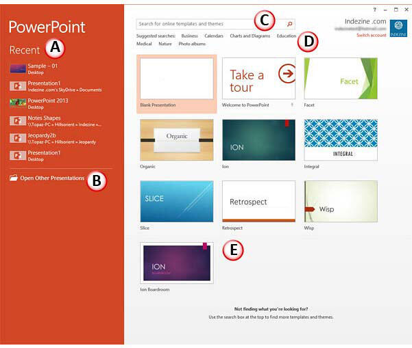 PowerPoint 2013 Presentation Gallery