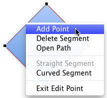 Add Point option selected
