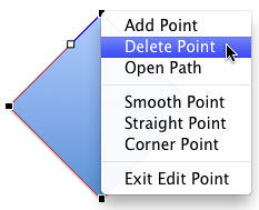 Delete Point option selected