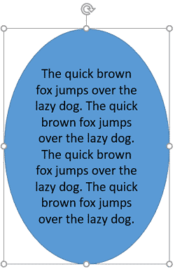 Increases the shape size to keep the text fitted within the shape