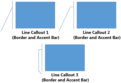 Line Callouts with Accent Bar and a border around them