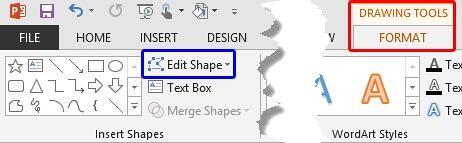 Edit Shape button