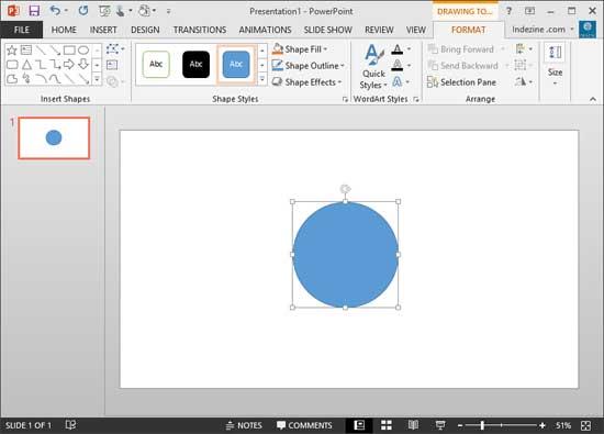 Star shape changed to an Oval shape