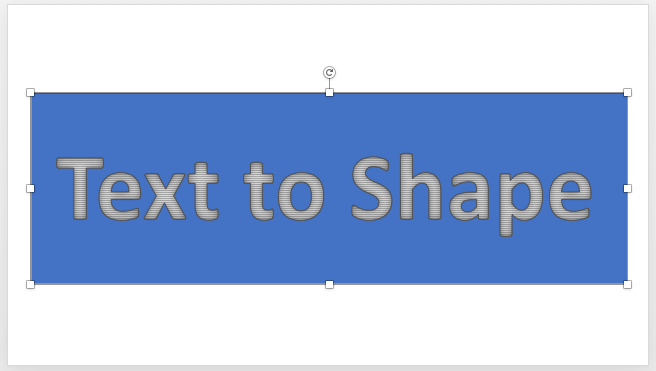 Text Box above Rectangle shape