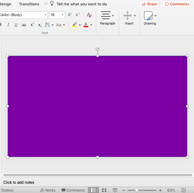 Rectangle placed to cover the entire slide