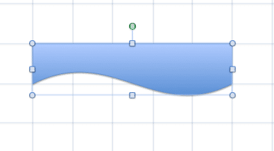 Straight line converted to curved line