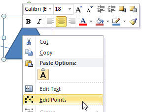 Edit Points option selected