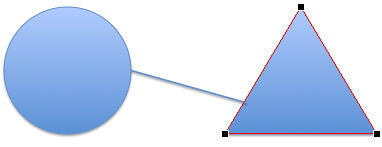 Triangle showing three vertexes on its corners